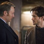 """HANNIBAL -- """"Su-zakana"""" Episode 208 -- Pictured: (l-r) Mads Mikkelsen as Hannibal Lecter, Hugh Dancy as Will Graham -- (Photo by: Brooke Palmer/NBC)"""