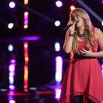 """THE VOICE -- """"Live Show"""" -- Pictured: Dani Moz -- (Photo by: Tyler Golden/NBC)"""