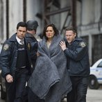 """LAW & ORDER: SPECIAL VICTIMS UNIT -- """"Post-Mortem Blues"""" Episode 1521 -- Pictured: (l-r) Danny Pino as Det.Nick Amaro, Mariska Hargitay as Sgt. Olivia Benson, Donal Logue a Lt. Declan Murphy -- (Photo by: Micahel Parmelee/NBC)"""