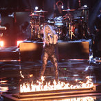 """THE VOICE -- """"Live Show"""" -- Pictured: Shakira -- (Photo by: Tyler Golden/NBC)"""