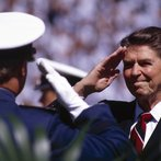 Ronald Reagan Salutes West Point Graduates