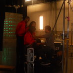 On set before interview