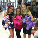 Avery and the Calico Hearts in hotel lobby in Houston