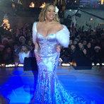 Mariah Carey at the Rockefeller Tree Lighting Ceremony
