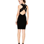 JesseRay & Garrett's Black Basketweave Bandage Dress