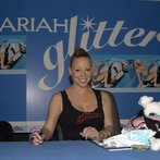 """Mariah Carey signing her """"Loverboy"""" single from her upcoming album """"Glitter"""" on Virgin records"""