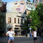 A mural of Marilyn Monroe is seen on Jul