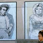 Movie Stars James Dean and Marilyn Monro