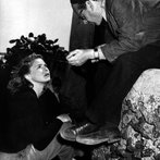 Ingrid Bergman and Roberto Rossellini on set of film Stromboli in Italy 1949