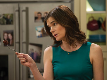 Betsy Brandt stars as Annie in NBC's The Michael J. Fox Show.