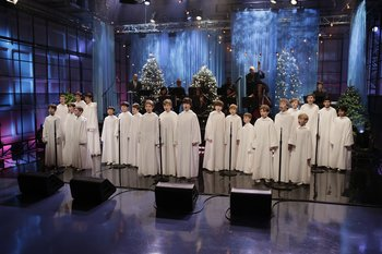 THE TONIGHT SHOW WITH JAY LENO -- Episode 4586 -- Pictured: Libera -- (Photo by: Paul Drinkwater/NBC)