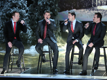 The Sing-Off - Nick Lachey and 98 degrees perform on stage