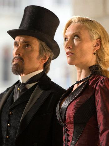 Dracula - Lord Browning and Lady Jayne Wetherby look onward