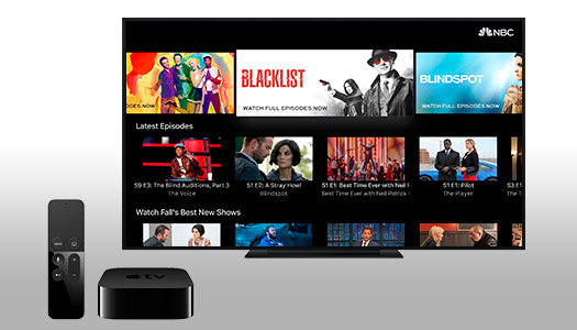 Get the NBC App for Apple TV 4