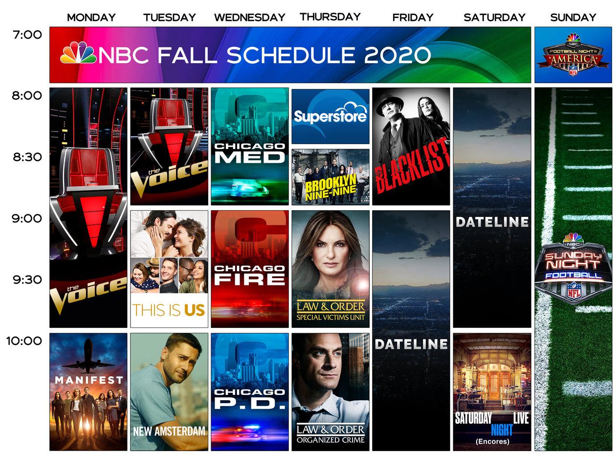 Nbc Fall Lineup 2020 Nbc Com