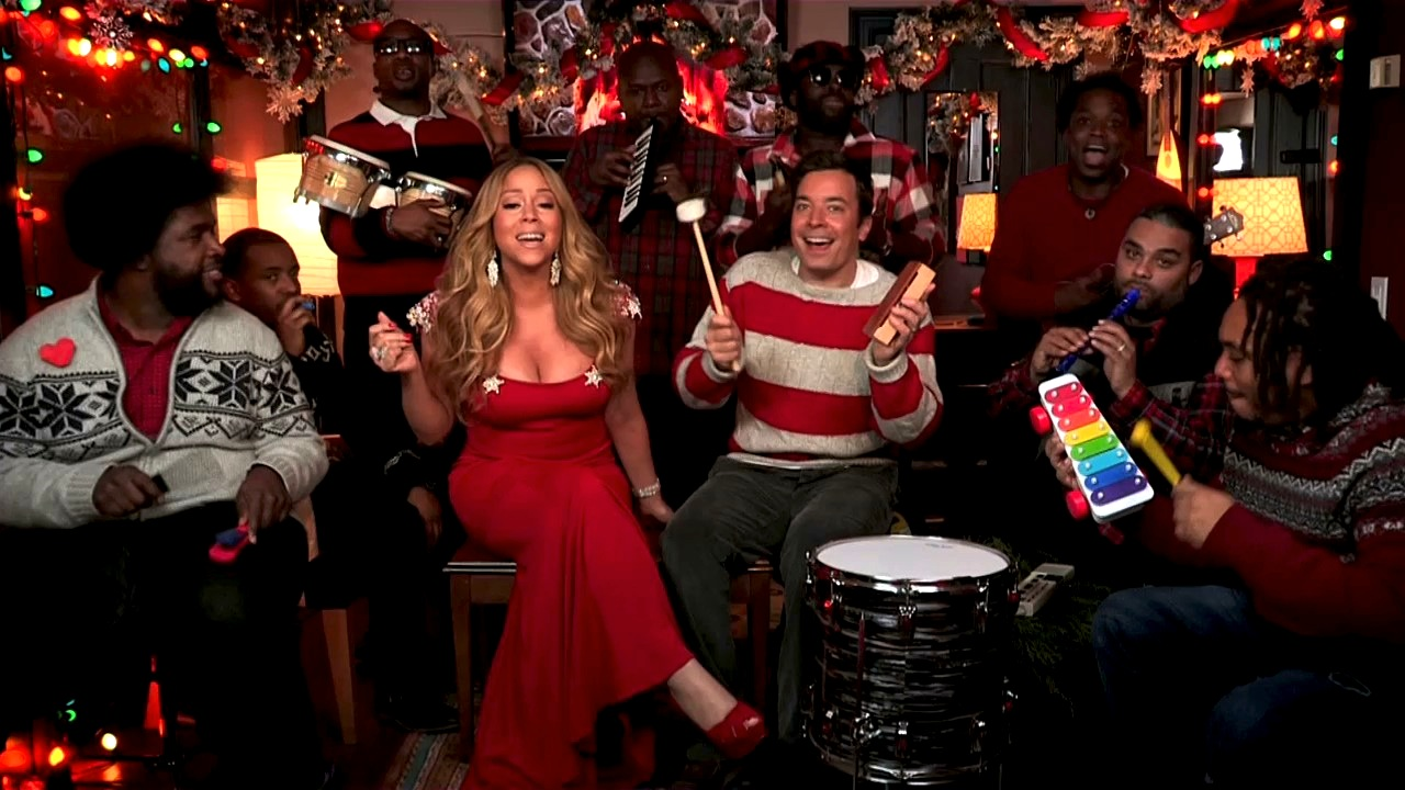 Jimmy fallon mariah carey amp the roots sing quot all i want for christmas