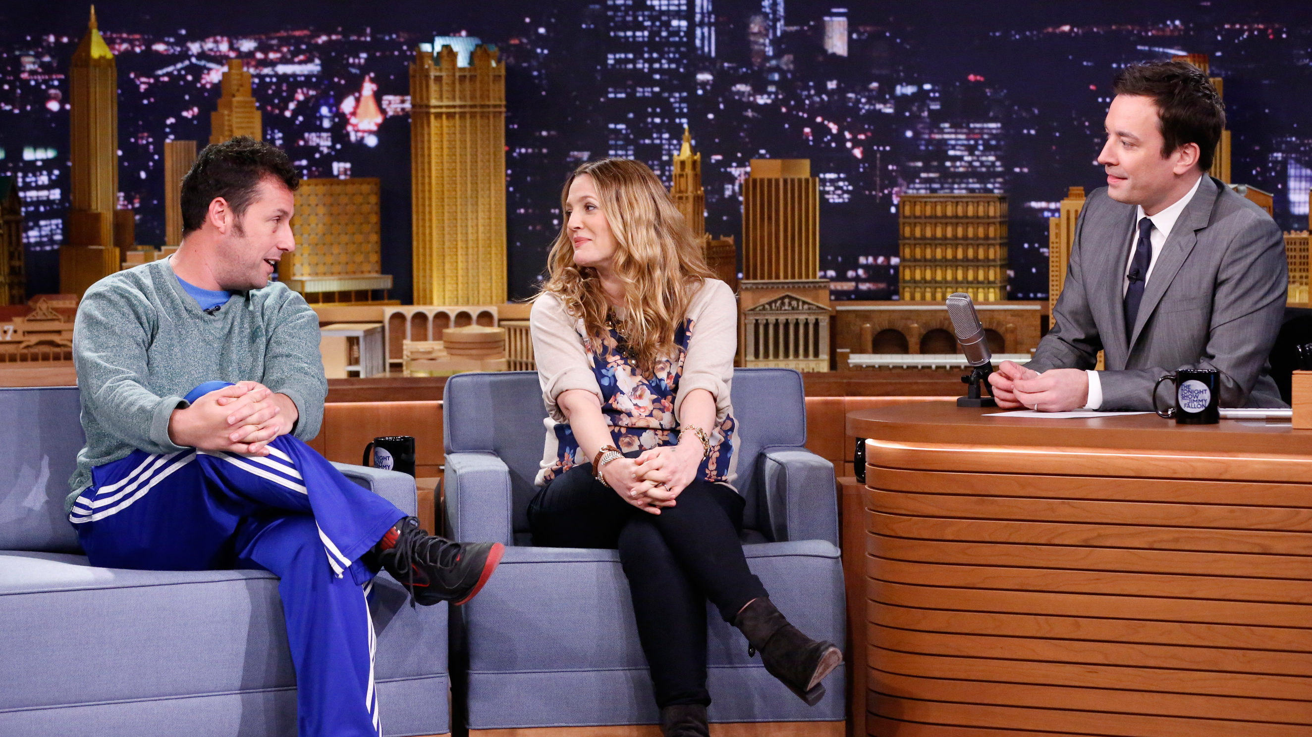 Adam Sandler and Drew Barrymore Cope with Jet Lag ...