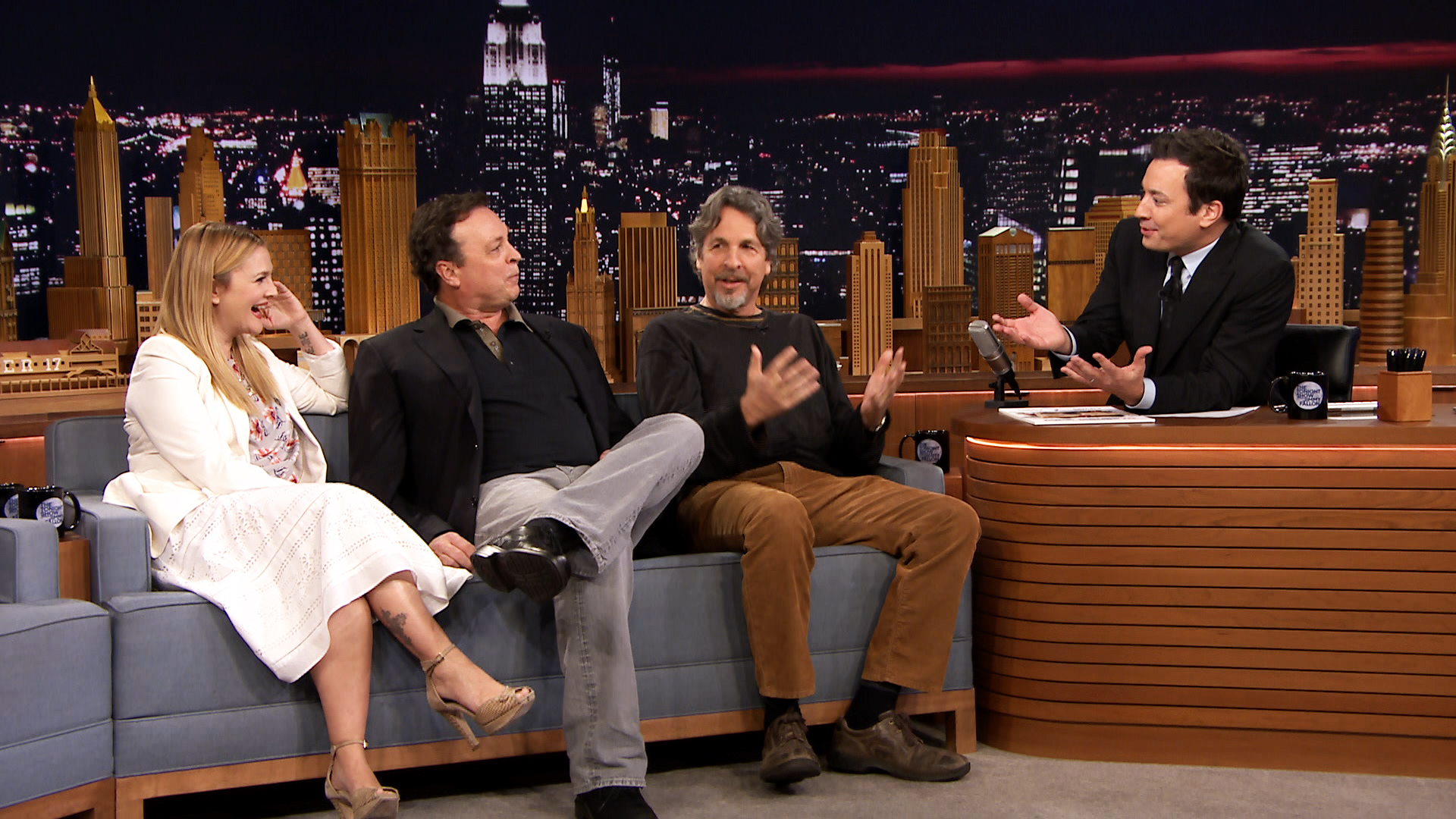 The Farrelly Brothers, Drew Barrymore and Jimmy Talk Fever ...