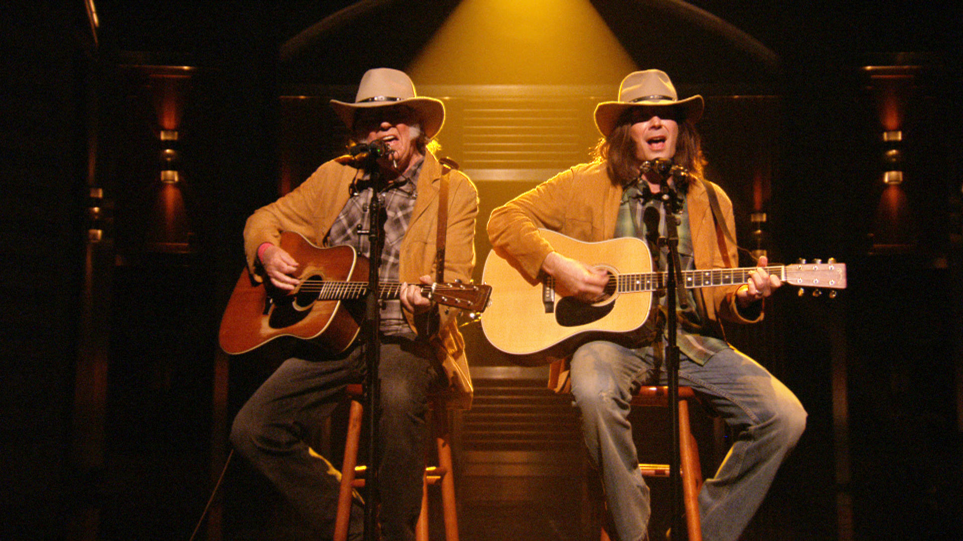 Two neil youngs sing quot old man quot the tonight show