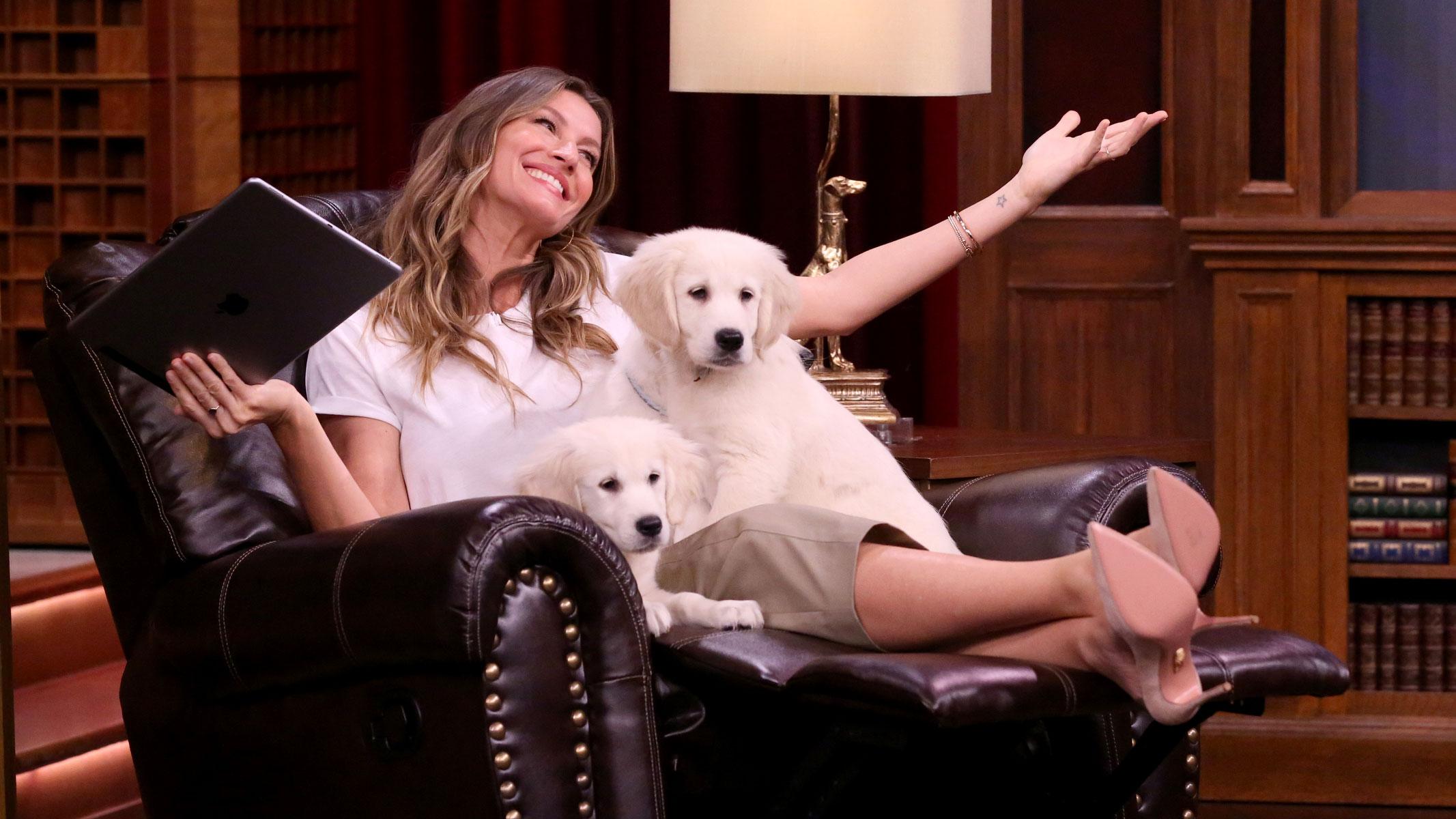 Pup Quiz with Gisele Bündchen - The Tonight Show Gisele Bundchen
