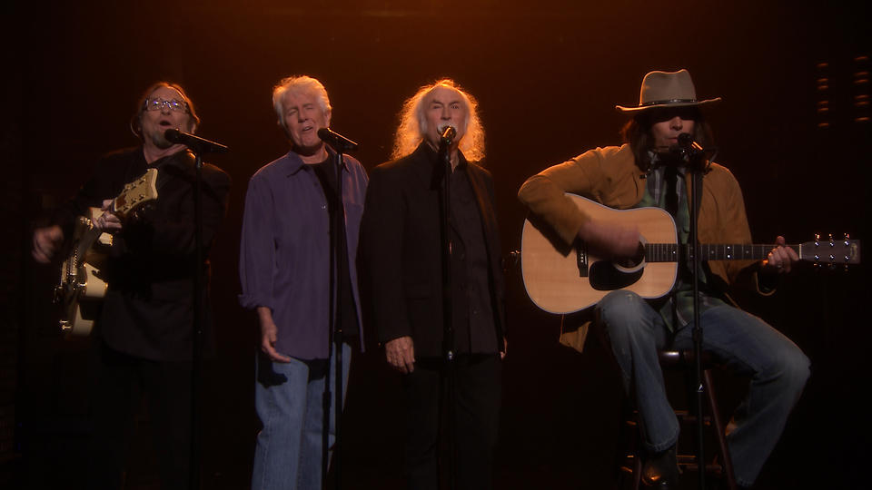 "Neil Young Sings ""Fancy"" with Crosby, Stills & Nash"