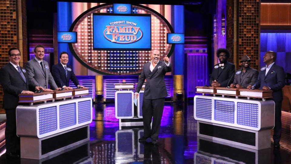 Tonight Show Family Feud with Steve Harvey and Jason Segel