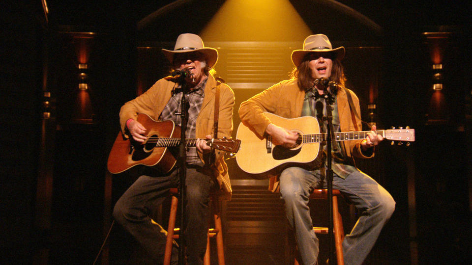 "Two Neil Youngs Sing ""Old Man"""