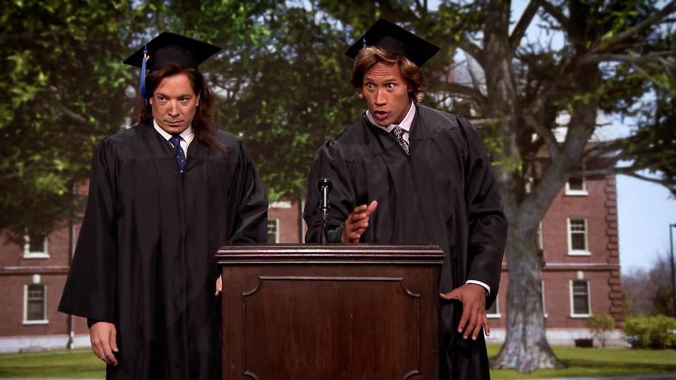 Jimmy Fallon and Dwayne Johnson's 1989 Commencement Speech