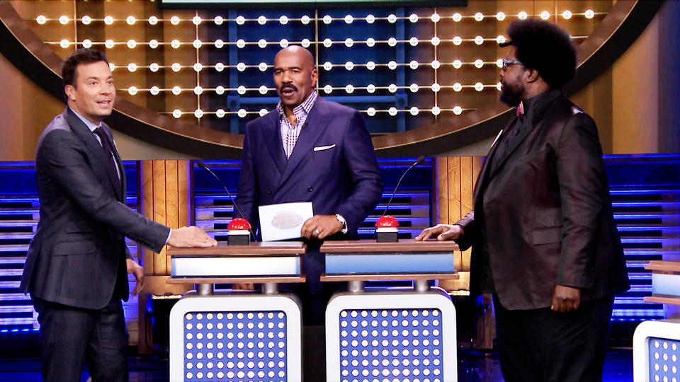 Tonight Show Family Feud with Steve Harvey and Alison Brie