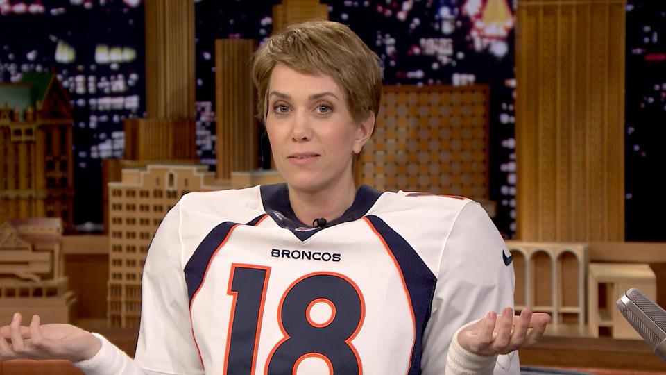 Jimmy Interviews Peyton Manning (Kristen Wiig)