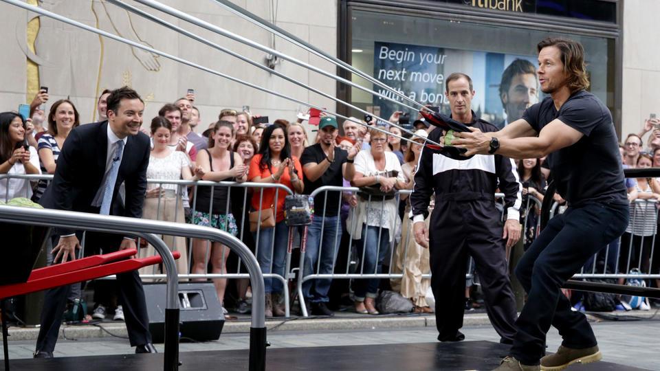 Giant Slingshot with Mark Wahlberg