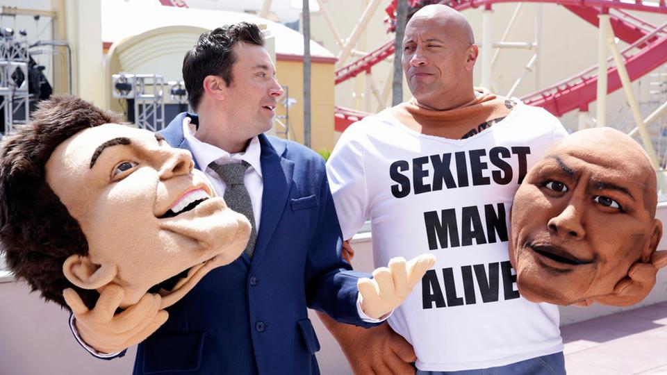 """Mascot Photobomb"" with Dwayne Johnson"
