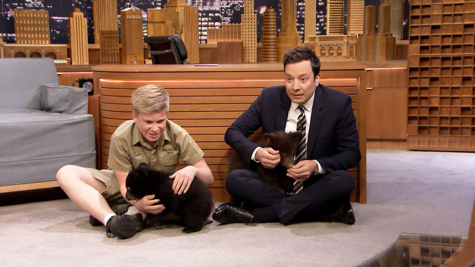 Robert Irwin and Jimmy Play with Baby Black Bears