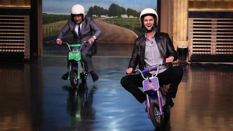 Pocket Bike Race with Andrew Garfield