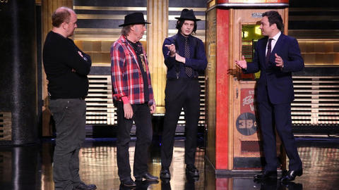 Neil Young and Jack White Demonstrate Voice-O-Graph Machine