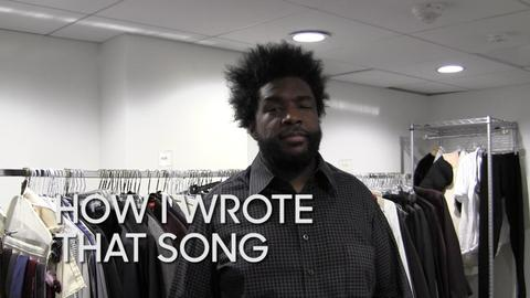 """How I Wrote That Song: Questlove """"...And Then You Shoot Your Cousin"""""""
