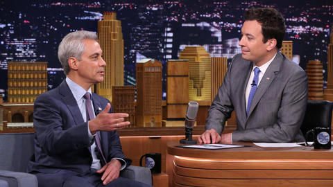 Mayor Rahm Emanuel Jumped in Lake Michigan with Jimmy