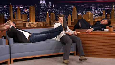 Jim Carrey and Jeff Daniels Catch a Nap