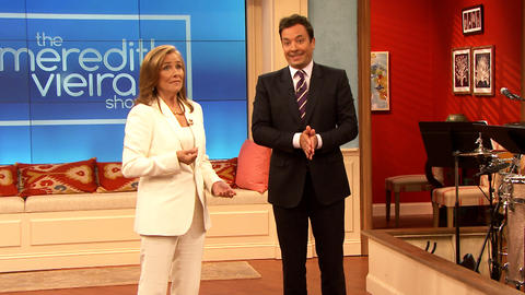 Meredith Vieira Gives Jimmy a Tour of Her Set
