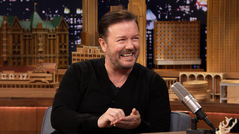 Ricky Gervais Handed Out Lotto Tickets for Christmas