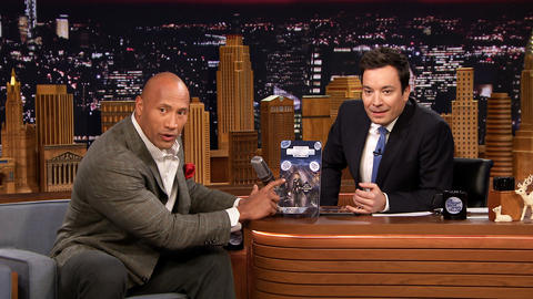 Dwayne Johnson Gives Jimmy a Custom Action Figure
