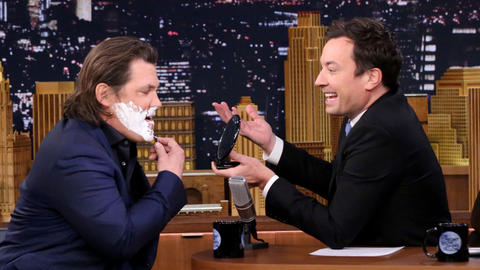 Jimmy Helps Josh Brolin Shave Off His '70s Porn 'Stache