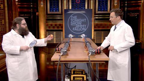 Kevin Delaney and Jimmy Fallon Launch a Ping Pong Ball at 920 MPH