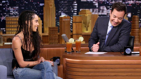 Zoë Kravitz Keeps the Party Going with Allegiant and Cocktails