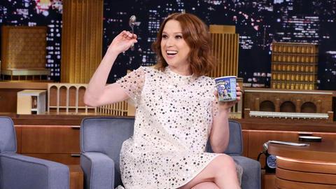Ellie Kemper Celebrates Her Pregnancy with Tonight Dough Ice Cream
