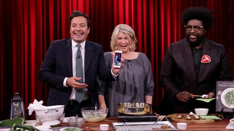 Jimmy Snapchats Martha Stewart Cooking Zucchini Fritters