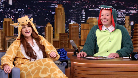 Jimmy Fallon Welcomes Meghan Trainor to the Bad Fall Club
