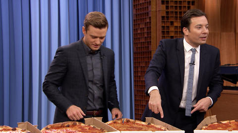Justin Timberlake Celebrates Trolls with a Tonight Show Pizza Party