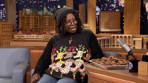 Whoopi Goldberg Brings Jimmy a Plate of Brown Men
