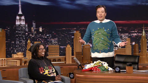 Whoopi Goldberg Has Jimmy Model Her Holiday Sweaters